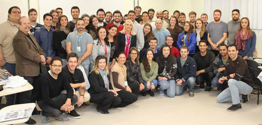 Reunião com formandos da UFSC  (foto: Carla Cavalheiro)